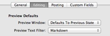 Select 'Markdown'